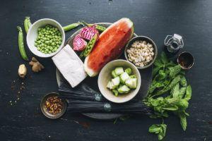 receta potito fruta vegano