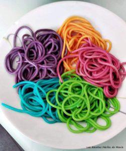 recetas de pasta de colores