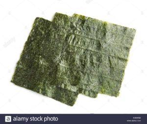 snack organic de alga nori tostada