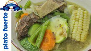 sopa con caldo de verduras