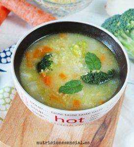 sopa de avena vegana