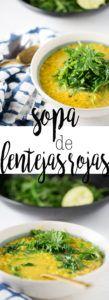 sopa de lentejas vegana
