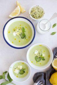 sopa de melon vegana