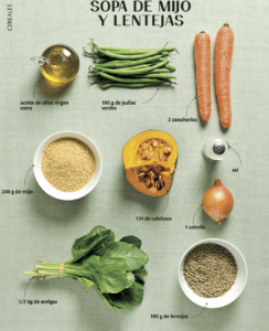 sopa de mijo vegana