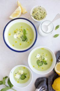 sopa de pepino vegana