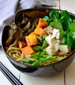 sopa de tofu vegana