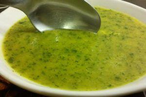 sopa fria de melon sin nata…