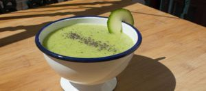 sopa fria de melon vegana