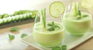 sopa fria de melon y pepino…