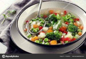 sopa juliana dieta vegana