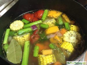 sopa para resfriado vegana