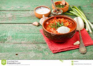 sopa rusa de remolacha vegana