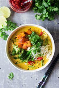 sopa vegetariana vegana
