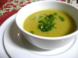 sopa verduras vegana