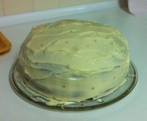 tarta de galletas y zanahoria