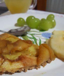 tarta de manzana integral vegana