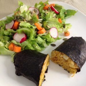 tarta de pescado vegano