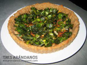 tarta de puerro vegana