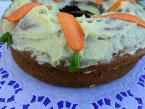 tarta de zanahoria y naranja