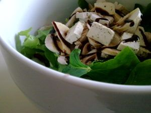 tofu con champiñones