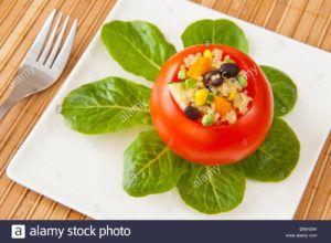 tomates rellenos de verduras