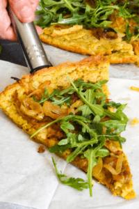 tortilla con harina de garbanzo