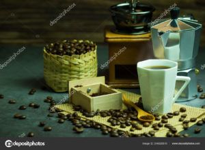 vaso de café bambu negro
