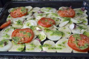 verduras al horno con patatas