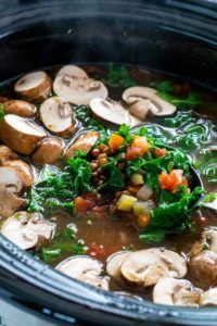 verduras crockpot