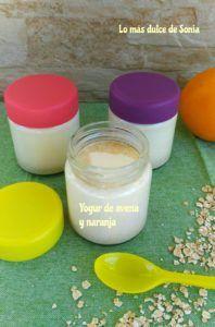 yogur con leche de avena