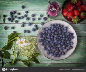 zumo de arandanos