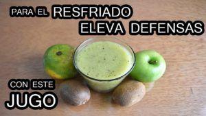 zumo de kiwi y naranja