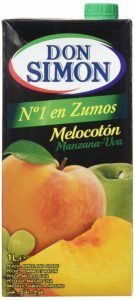 zumo de melocoton ecologico 1l