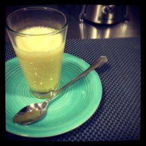 zumo de melon y manzana