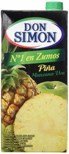 zumo de piña ecologico 1l