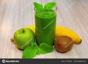 zumo de platano y manzana