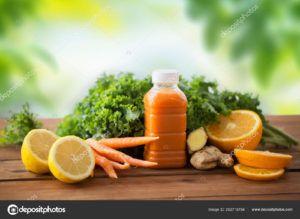 zumo naranja y zanahoria
